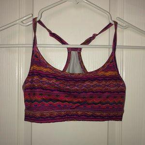 Cute patterned sports bra